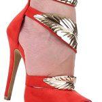 Damen Sandaletten Schuhe High Heels Pumps Stilettos Abendschuhe Rot 39