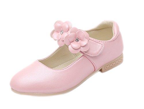 jimall maedchen schuhe festliche schuhe abendschuhe sandalen pumps mit blume rosa ihnenlange15 8cm - Jimall Mädchen Schuhe Festliche Schuhe Abendschuhe Sandalen Pumps mit Blume Rosa Ihnenlange15.8cm