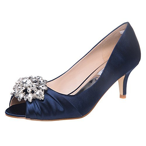 SheSole Damen Pumps Blau EU 40