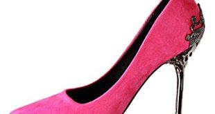 Minetom Damen Elegant Schuhen Mit Hohen Absätzen Sexy Spitze Schuhe Hochzeit Abend Parteischuhe Rose 39