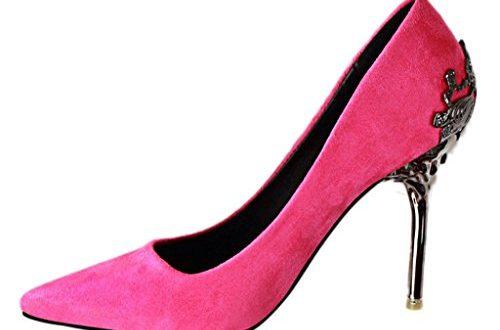 Minetom Damen Elegant Schuhen Mit Hohen Absaetzen Sexy Spitze Schuhe 500x330 - Minetom Damen Elegant Schuhen Mit Hohen Absätzen Sexy Spitze Schuhe Hochzeit Abend Parteischuhe Rose 39